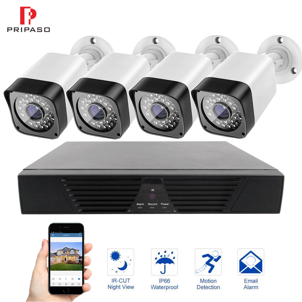 8CH Video Surveillance Kit 720P CCTV System 1.0MP IR Night Vision Indoor Outdoor AHD Camera Waterproof Outdoor Analog Camera