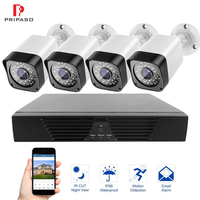 8CH Video Surveillance Kit 720P CCTV System 1.0MP IR Night Vision Indoor Outdoor AHD Camera Waterproof Outdoor Analog Camera