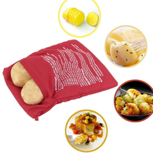 Gadgets Cooker-Bag Microwave Baking-Tool Kitchen Red 1pcs Rice-Pocket Easy Washable