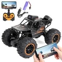 Control remoto de 2,4G para coche todoterreno, Control de aplicación remota, WiFi, cámara de alta velocidad, 4WD, doble dirección, Buggy RC Rock Crawler