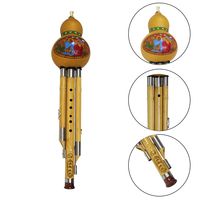 Cucurbit Flute Chinese Traditional C/bB Key Professional Woodwind Musical Instrument Sandalwood Hulusi Three tone Flute 60 0004