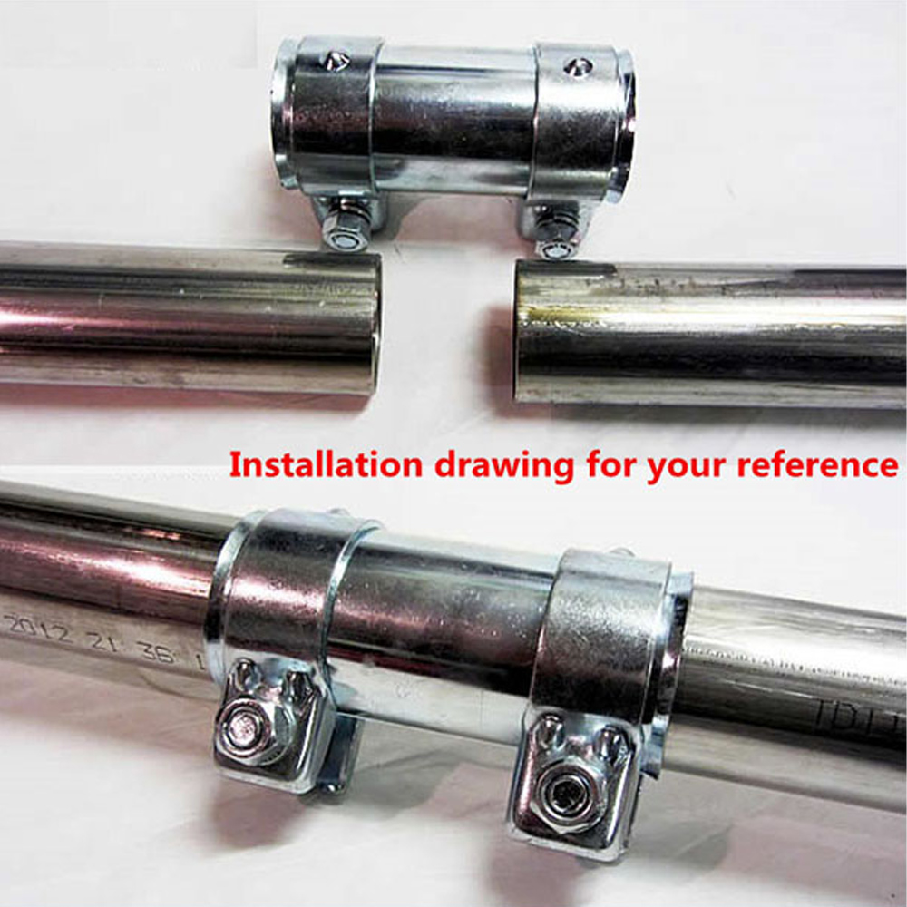 zuczug 1 65 3 0 exhaust pipe connector tube adapter joiner sleeve clamp connector exhaust tube pipe connector joiner