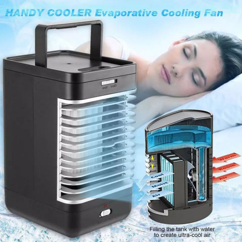 High Quality Cooling Fan Portable Small Air Conditioner Desktop Quiet Cooler With Handle For Office, Home, Outdoor, Gym