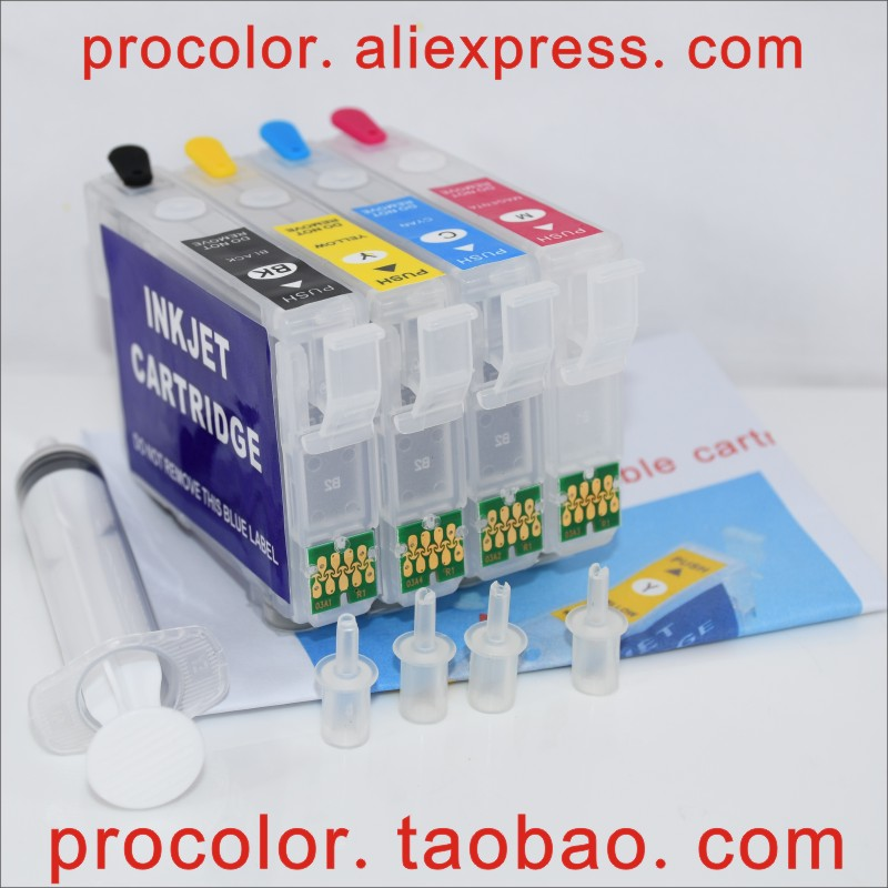 T03A1 603XL Refillable Ink Cartridge ARC Chip for <font><b>Epson</b></font> <font><b>XP</b></font> <font><b>2100</b></font> 2105 3100 3105 4100 4105 WF 2810 2830 2835 2850 Inkjet Printer image