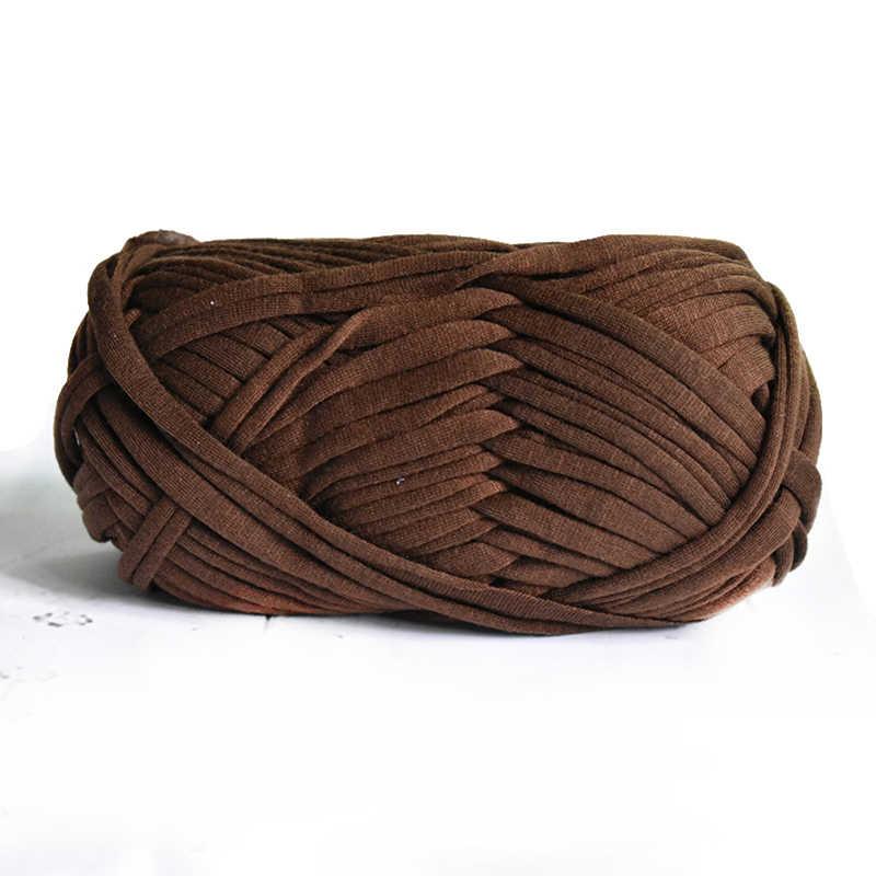 100g/ball Dicken Tuch Stoff Streifen Garn Handwerk für Hand Stricken Häkeln DIY Kissen Decke Tuch Streifen für taschen