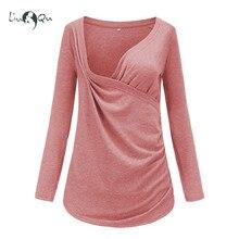 Одежда для грудного вскармливания Пижама для беременных топы Одежда для беременных женская одежда Рубашки для беременных повседневные блузки для медсестры