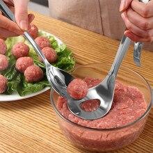 Máquina de albóndigas Transhome cuchara de acero inoxidable antiadherente creativa para hacer albóndigas herramientas de cocina Gadgets y accesorios de cocina