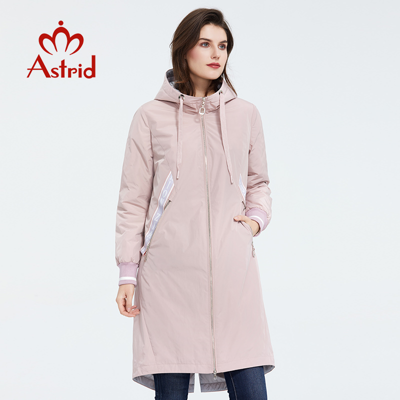 Astrid 2020 New Arrival Spring Classic Style Length Women Coat Warm Cotton Jacket Fashion Parka High Quality Outwear ZM-3556