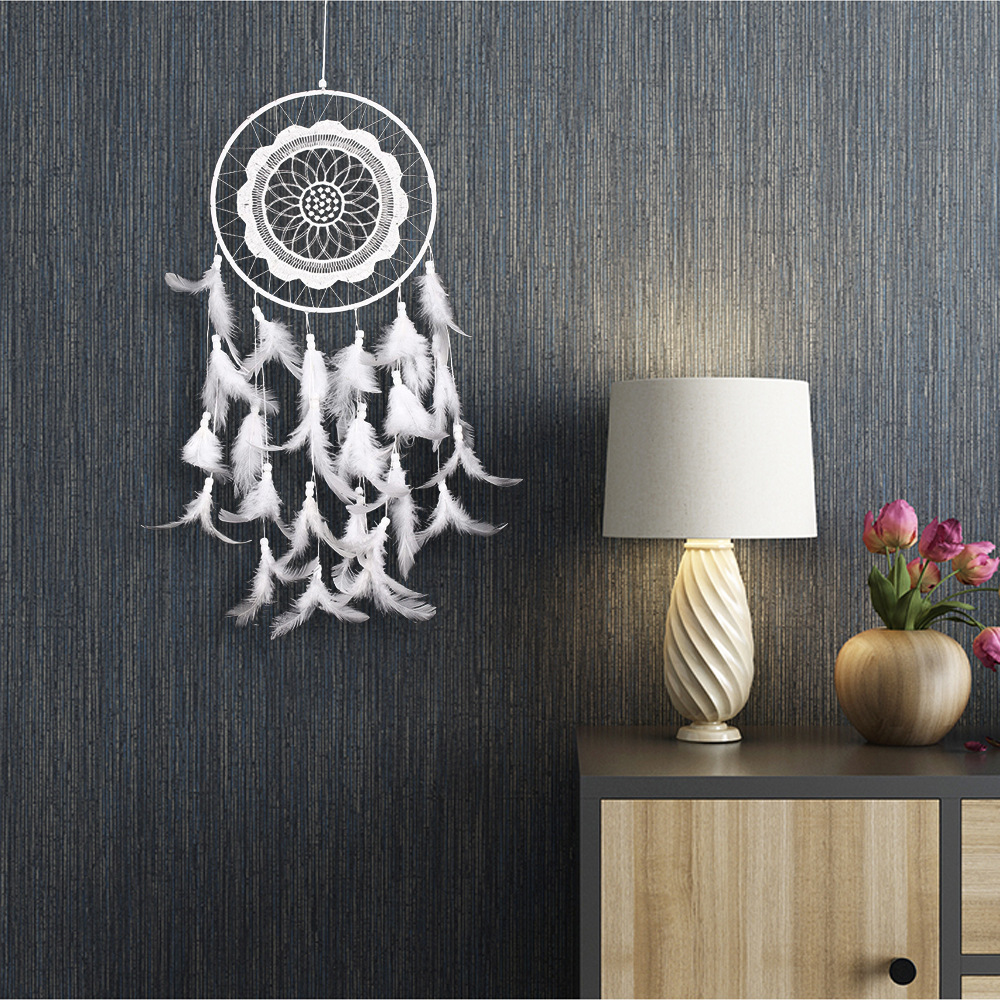 Lace Lace Dream Catcher Pendant Home Pendant Wall Hanging European And American Home Decor Creative Gifts Baby Photography Props