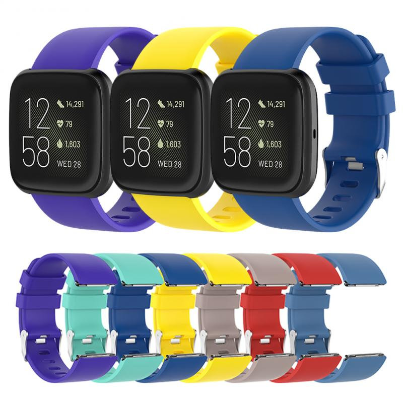 1pc Waterproof Bracelet 2 Official Same 14 Colors Silicone Strap Big Model For Fit Versa 2 Smart Watch Replacement Fitbit