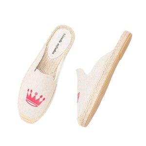Image 2 - Tienda Soludos נעלי בד נעלי בית עבור שטוח נעלי 2019 קידום חדש הגעה קנבוס קיץ גומי פרדות שקופיות Zapatos De Mujer