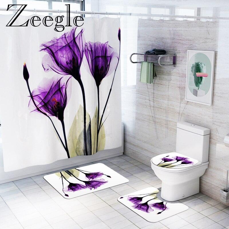 Shower Curtain Non Slip Bathroom Carpet