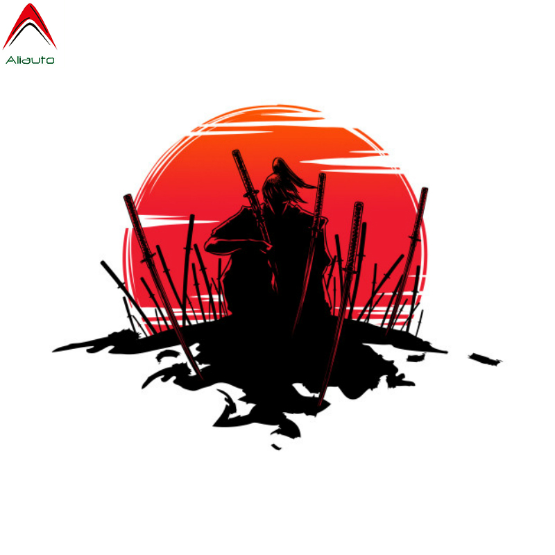 Alauto Fashion Car Sticker Japanese Samurai Warrior Waterproof JDM PVC Decal For Skateboard Motorcycle Volkswagen Polo,14cm*14cm