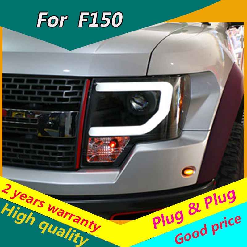 KOWELL Car Styling for Ford F150 Headlights 2008-2015 Raptor F150 LED Headlight DRL Lens Double Beam <font><b>H7</b></font> HID Xenon bi xenon lens image