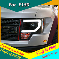 KOWELL Car Styling for Ford F150 Headlights 2008 2015 Raptor F150 LED Headlight DRL Lens Double Beam H7 HID Xenon bi xenon lens
