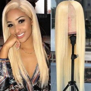 Image 2 - Bestsojoy 613 Blonde Kant Voor Pruik Braziliaanse Remy Menselijk Haar Pruiken Voor Zwarte Vrouwen Rechte 13X4 Transparant Kant pruik
