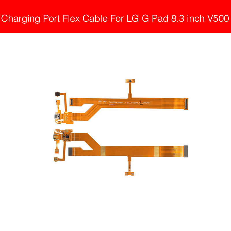 Microphone & Charger USB Jack Dock Flex Cable For LG G Pad 8.3 Inch V500 Charging Port Module Usb Connector Port Replacement