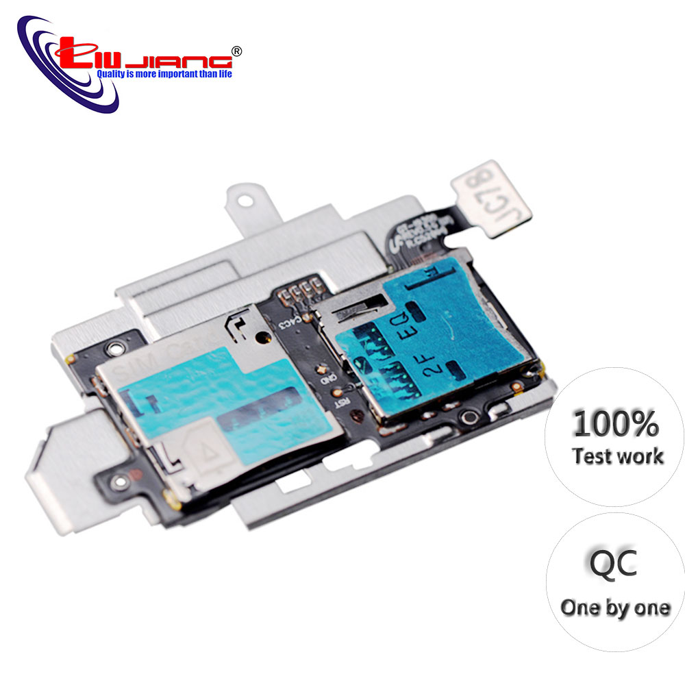 Original For Samsung S3 I9300 I9305 Sim Card Reader Holder Micro SD Memory Socket Slot Tray Flex Cable Replacement Part