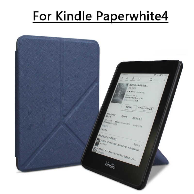 Compatible con la versi/ón de 2018 10/ª generaci/ón Funda para Kindle Paperwhite Outter con funci/ón de Encendido y Apagado autom/ático de Piel Fina y Ligera