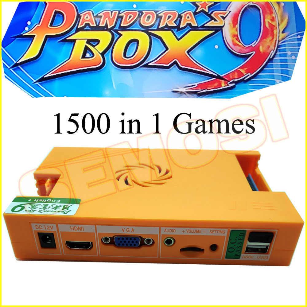 2500 In 1 pandora'nın kutusu 9D Arcade kiti 1500 In 1 Pandoras kutusu 9 DIY Set ile LED düğme 5Pin joystick oyun konsolu için