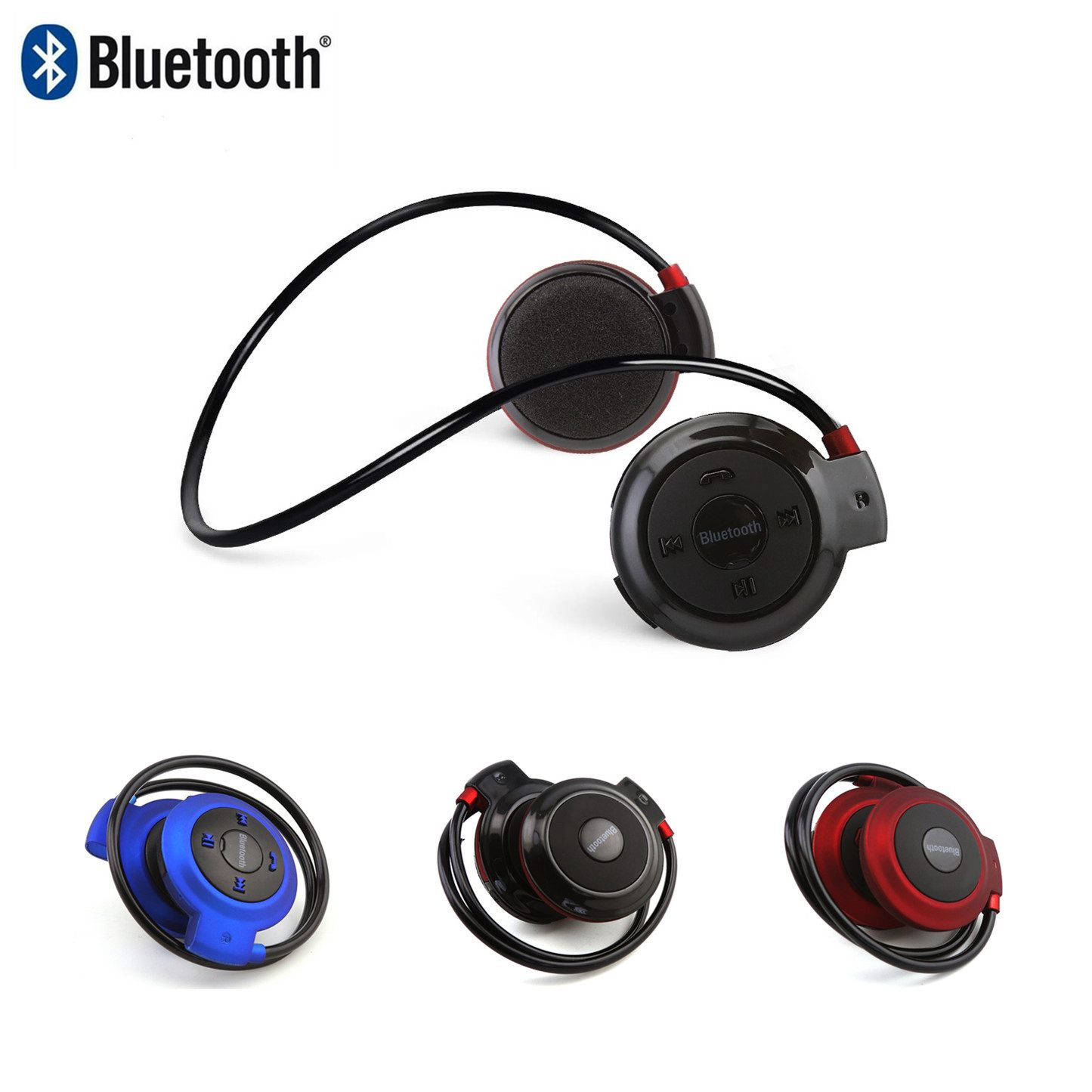 <font><b>Bluetooth</b></font> <font><b>Headphone</b></font> Wireless Foldable Earphone Sport Earbud Portable Music <font><b>Gamer</b></font> Headset With Microphone For Xiaomi Smartphone image