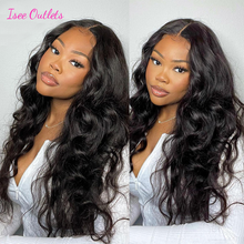 Body Wave Lace Front Wigs 4x4 Lace Closure Wigs For Women Remy Human Hair Peruvian Body Wave Lace Closure Wigs ISEE Hair Outlets