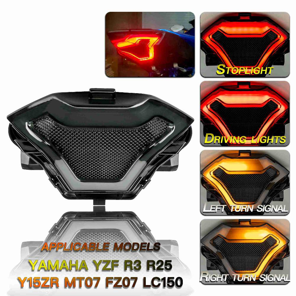 Cafe Racer Led Brake Turn Light Motorcycle Lightings Modified Taillight Signals Lights Accessories for YAMAHA R3 R25 MT 03 07 25