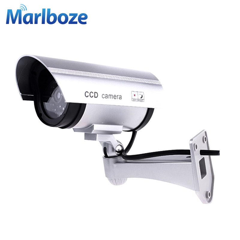 Fake Dummy Camera Waterproof Fake Camera Outdoor Led Lights Camera Surveillance CCTV Home Security Camera