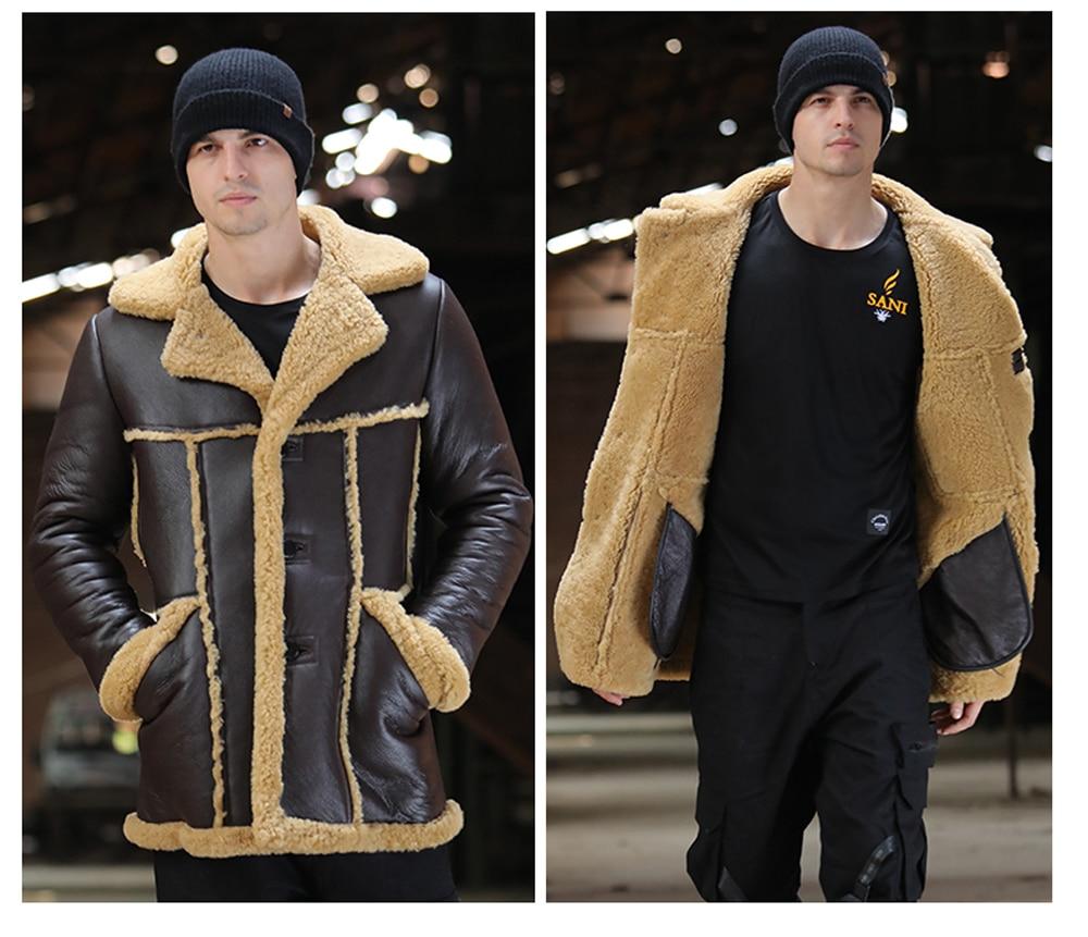 He810791bdf044752804971b5525f8af6H Men Luxury Fur Shearling Coat Yellow Soft Thicken Fur Coat Winter Male Formal Business Fur Sheepskin Jackets