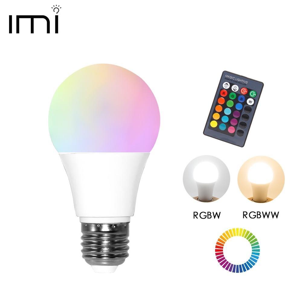 LED RGB Bulb E27 Light RGB RGBW RGBWW Dimmable IR Remote 5W 10W 15W AC 220V Colorful Magic Holiday Bar Club Night Smart Lamp