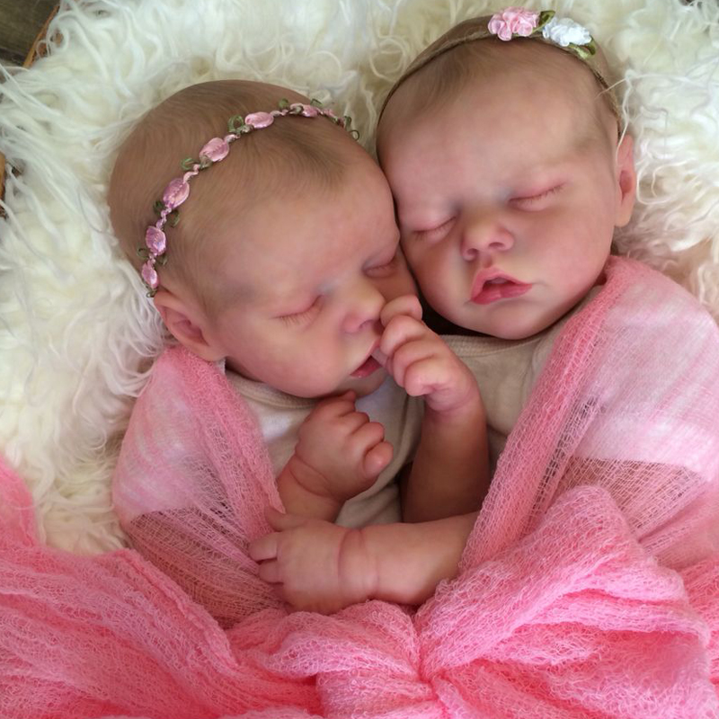 RBG Bebe Reborn Kit 17 Zoll Reborn Baby Vinyl Kit Twin EINE Twin B Unlackiert Unfinished Puppe Teile DIY Blank reborn Puppe Kit