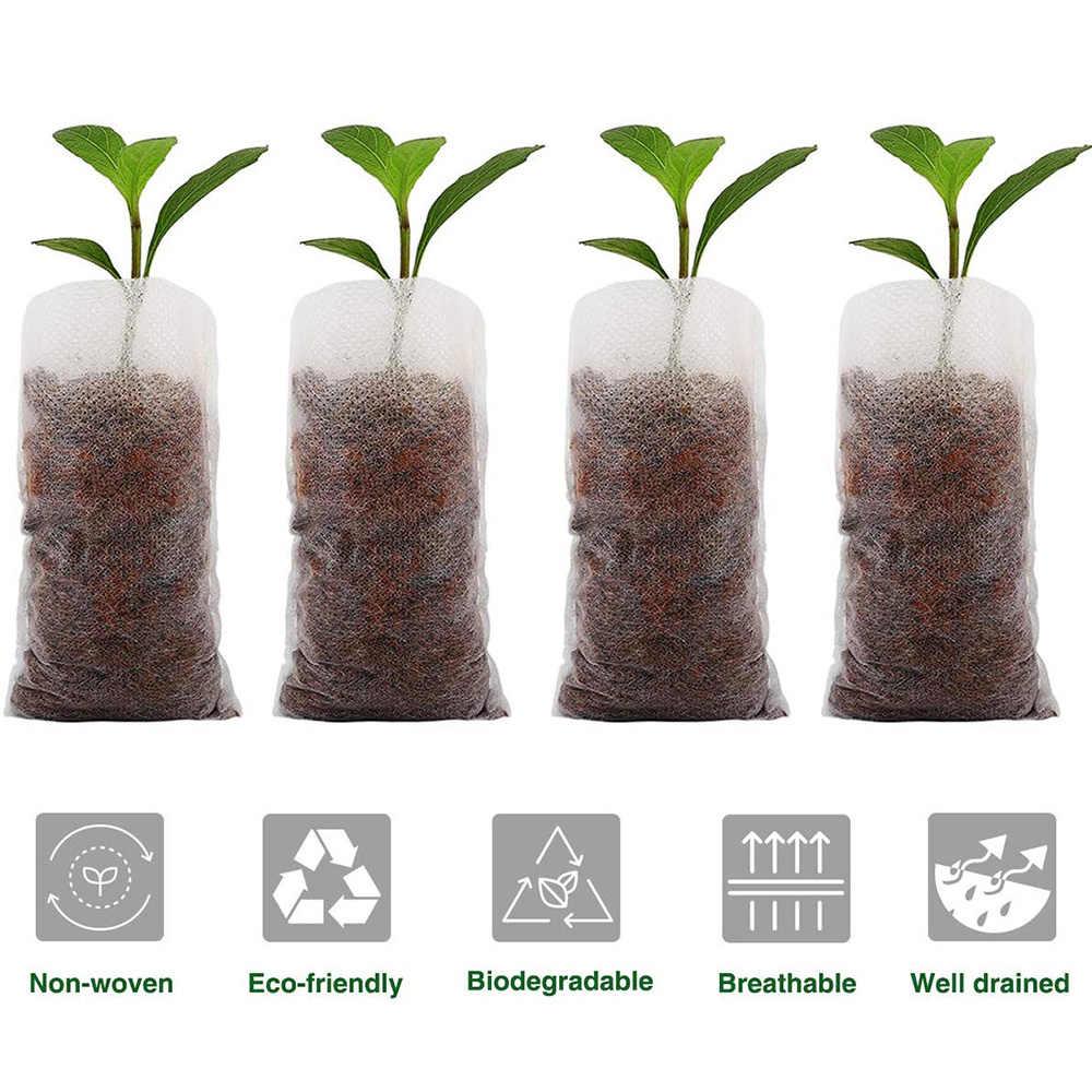 50 unidades/pacote fontes do jardim proteção ambiental berçário flor potes sacos de mudas tecidos jardim plantio para decoração de casa