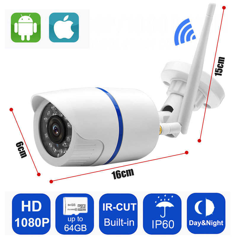720 P/1080 P Ip Kamera Wifi Keamanan Outdoor CCTV Wireless Surveillance Tahan Air IP66 Slot Kartu SD Merekam Audio yoosee