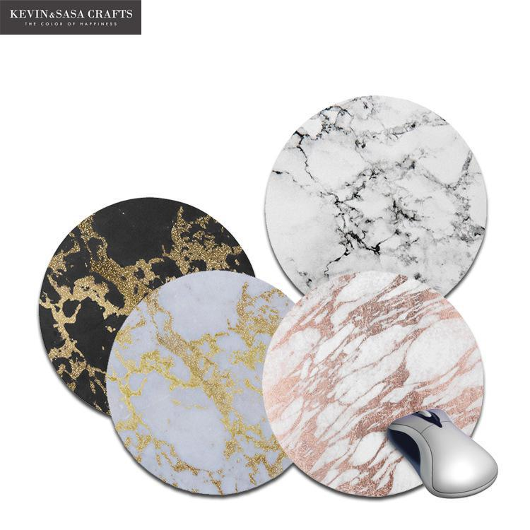 New Marble Printed Desk Mat Quality Office Desk 22*22cm Organizer School Supplies Mouse Desk Tools Office Desk Accessories Set