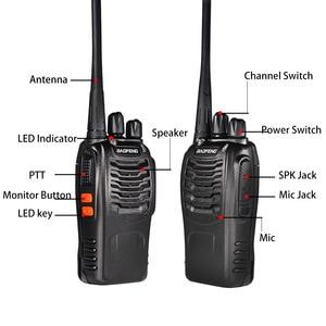 Image 3 - 3pcs Baofeng BF 888S Walkie Talkie BF 888s Ham Radio Earpieces 5W 400 470MHz UHF FM Transceiver Two Way Radio Comunicador