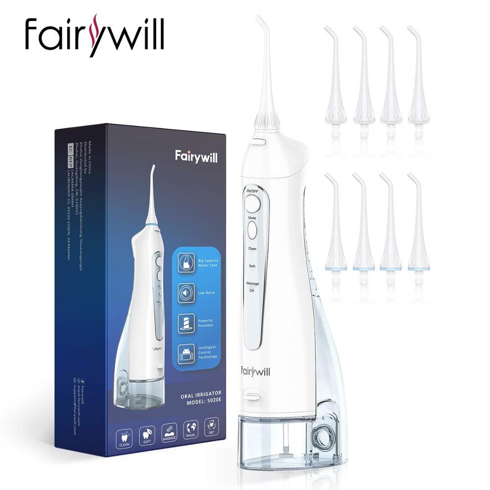 Fairywill eau Flosser USB Rechargeable Oral irrigateur dentaire 3 modes étanche IPX7 300ML réservoir deau Jet deau dents nettoyeur