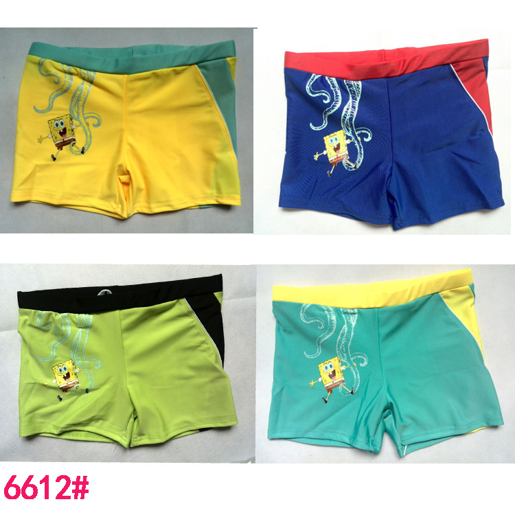 Big Boy Swimming Trunks Cartoon Mixed Colors Swimming Trunks (Suitable 6-13-Year-Old) Top Grade Crawler 6612