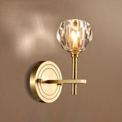 Fss nowoczesny ze złota kryształ lampka nocna kinkiet kinkiet led luksusowe kinkiety oprawy do sypialni kinkiety salon