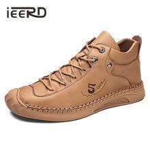 Мужские кожаные ботинки из микрофибры Зимние удобные рабочие