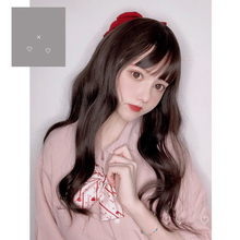 MANWEI Wig With Bangs Long Wavy Synthetic Hair Cosplay Costume