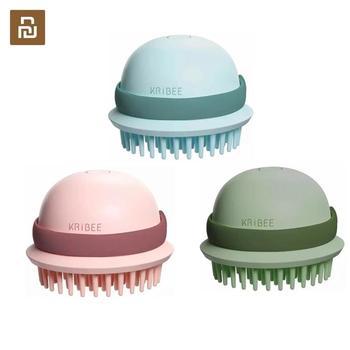 Cepillo con masajeador eléctrico Youpin Kribee, IPX7, impermeable, seco, doble cuidado del cabello, cepillo de pelo recargable antiestático para el cuero cabelludo