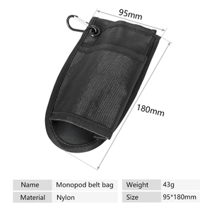 Image 3 - Photography tripod waist pack hiking pole Pro Fixed Portable Waist Bag Pouch Case Waist Holder For Supporting Monopod Tripod