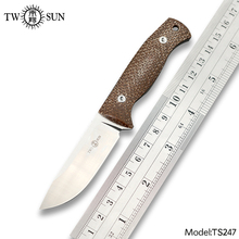 Pocket-Knife Survival-Knife Fixed-Blade Micarta TS247 MINI Camping-Tool Outdoor Hunting