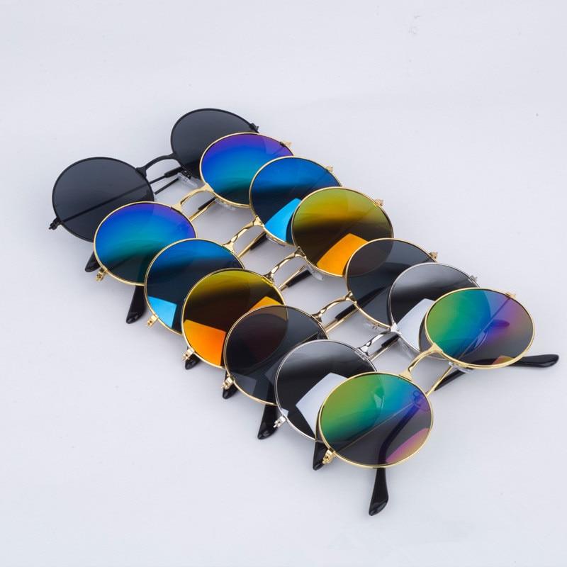 Men Sunglasses Women Retro Punk Style Round Metal Frame Cycling Riding Sunglasses Colorful Lens SunGlasses  Eyewear Gafas