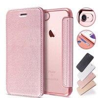 Funda de teléfono con tapa para iPhone, carcasa delgada de lujo de cuero + billetera de TPU para iPhone 5 5S SE 6 6S Plus 7 8 X XS XR XS MAX, soporte para tarjetas
