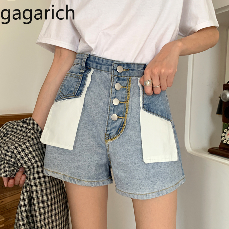 Gagarich Women Shorts 2020 Spring New Style High-waisted Light Blue Denim Female Korean Style Slim Loose Shorts