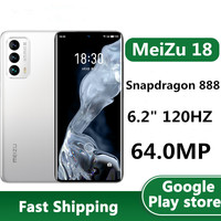 """In Stock Meizu 18 5G Mobile Phone 64.0MP 4 Cameras Android 10.0 6.2"""" 90HZ 3120x1440 30W Charger Snapdragon 888 OTA Bluetooth 1"""