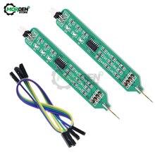 Probador lógico de bolígrafo de 5V y 3,3 V, probador de nivel alto y bajo, depurador de circuito Digital, Analizador de pulsador lógico, sonda de detección con línea Dupont