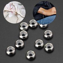 10 шт. нержавеющая сталь, каучук вставки ограничитель бусины для Add-a-Beads браслет