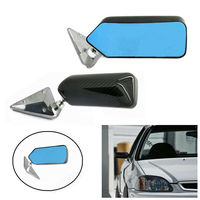 Universal F1 racing car drift carbon fiber side rearview mirror anti-glare blue